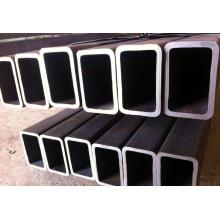 Black Welded Rectangular / Square Steel Pipe/Tube