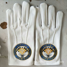 White Nylon Parade Gloves Church Handskar