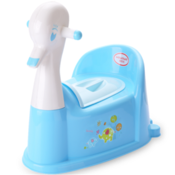 Duck Shape Plastic Baby Toilet Trainer With Music&Wheel