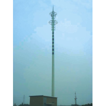 China New Product for Telecommunication Tower Communication Painted Monopole export to Guinea Supplier