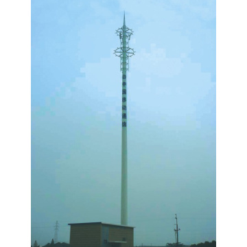 High Performance for Telecom Steel Tower Communication Painted Monopole supply to Togo Supplier