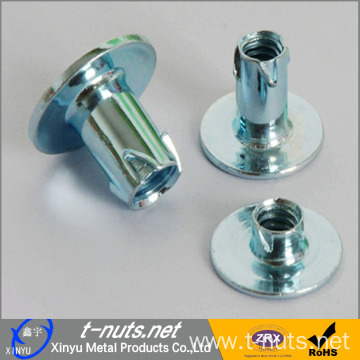 Middle Steel Zinc Plated Propell Tee Nuts