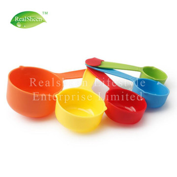 5 Piece Multi Colored Plastic Measuring Cups Set