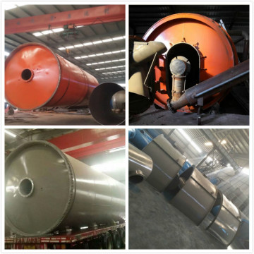 fuel from waste tyres pyrolysis machinery