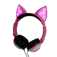 Colorful Earphone Cosplay Fox Ear Wired Headphone
