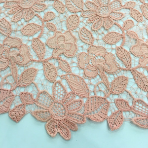 Cord Chemical Lace Flower Embroidery Fabric
