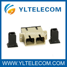 Telecommunication-Multimode SC Fiber Optic Adapter with Ceramic Sleeve For Telecommunication