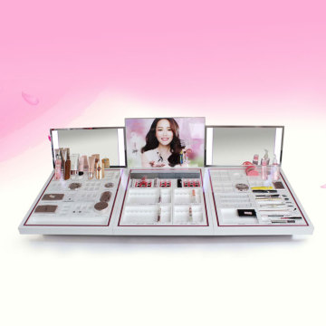China for Large Makeup Display Stand Acrylic cosmetic display stand and cosmetic stand suppliers export to South Korea Manufacturer