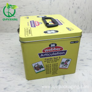 New design playing cards packaging tin box