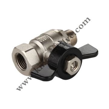 Butterfly handle brass ball valve