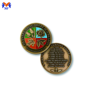 Metal copper rounds coin for sale