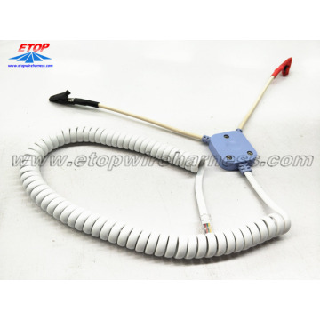 China for Medical Wire Harness Alligator Clip Cables to RJ45 connector export to South Korea Suppliers