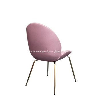 Gold Gubi Beetle Fabric Living Room Chair