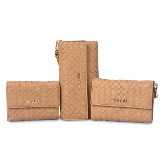 long weave leather phone wallet business wallet