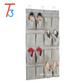 wall door closet hanging storage bag organizer 16 pockets hanging canvas organizer