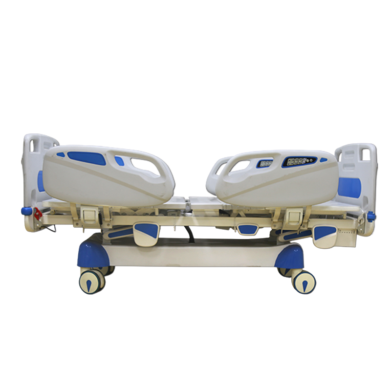 Multifunctional hospital bed in sickroom;