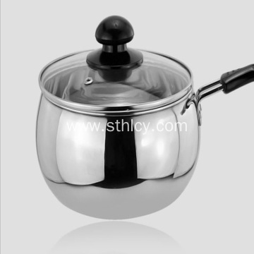 Stainless Steel Non-magnetic Single Bottom Milk Pan