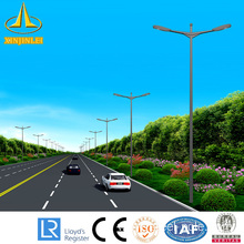 12m square galvanized street lighting pole