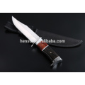 Black Brown Satin Finish Fixed Blade Camping Knife