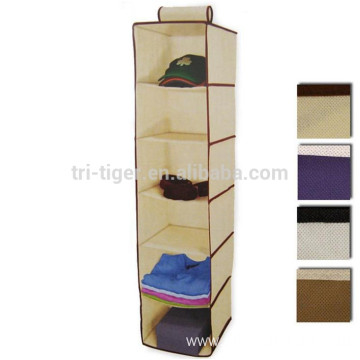 6 Shelf Hanging Wardrobe Sweater organizer wall pocket storage organizer Cloth Bag Blanket Box Closet