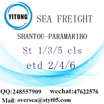 Shantou Port LCL Consolidation To Paramaribo