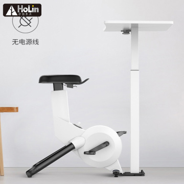 Slim gym equipment indoor cycling bike with table