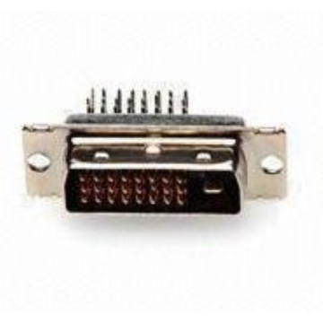 Best Price for for Dvi Female Connector DVI 24+1 Male Angle DIP Type Connector export to Bhutan Exporter