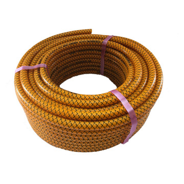 Colored braided PVC hose