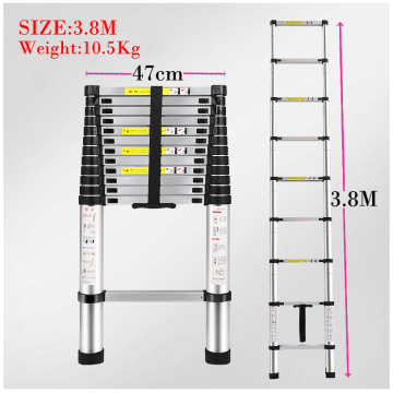 Single straight aluminum telescopic  ladder