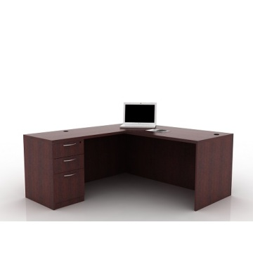 office desk with three drawers pedestal