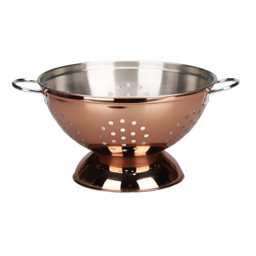 Copper Colander With Comfortable Handle