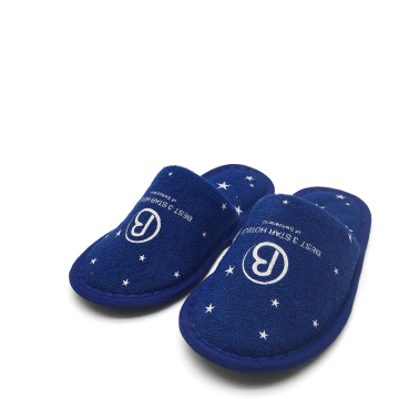 Washable personalized hotel slippers for children