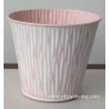 Hand painted painted iron embossed bucket