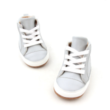 High Top Soft Sole Leather Shoes