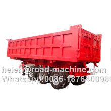 Factory made hot-sale for Dump Trailer,Semi Dump Trailers,Square Dump Trailer Manufacturers and Suppliers in China HYVA Cylinder 3 Axles Dumper Semi Trailer export to Comoros Factories