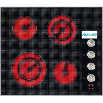 Electric Cooktop With 4 Cooking Zones
