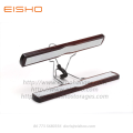 EISHO Dark Walnut Wooden Clamping Trouser Hangers