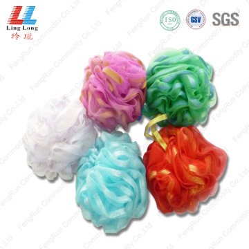 Golden silk mesh sponge ball