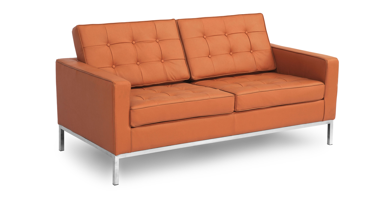 florence knoll replica leather sofa