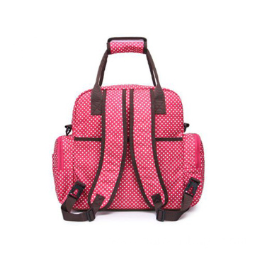 Large Red Mummy Tote Bag Diaper Backpack