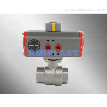 Stainless Steel Pneumatic Ball Valve Double Acting Spring Return Type