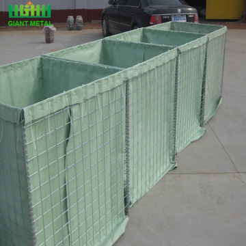 Heavily galvanized hesco defensive barrier for military