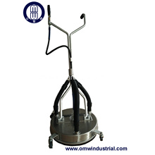 "21"" Stainless Steel Surface Cleaner with Vacuum port"