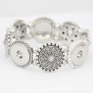 China for Noosa Snap Button Bracelet Sunflower Noosa Button Bracelet DIY Snap Noosa Bracelets export to Fiji Factory