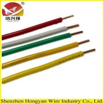 Colored Pvc insulated copper wire for building wiring