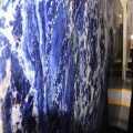 Big blue sodalite stone slabs