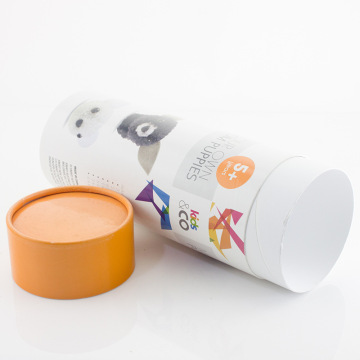 Candy Paper Round Gift Box With Rolled Edge