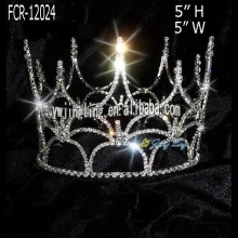 Wholesale Rhinestone Full Round Pageant Crowns Cheap