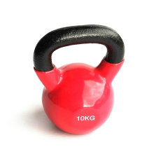 10KG Red Vinyl Coated Kettlebell
