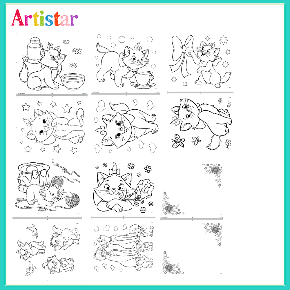 Disney The Aristocats Marie Colouring Set 01